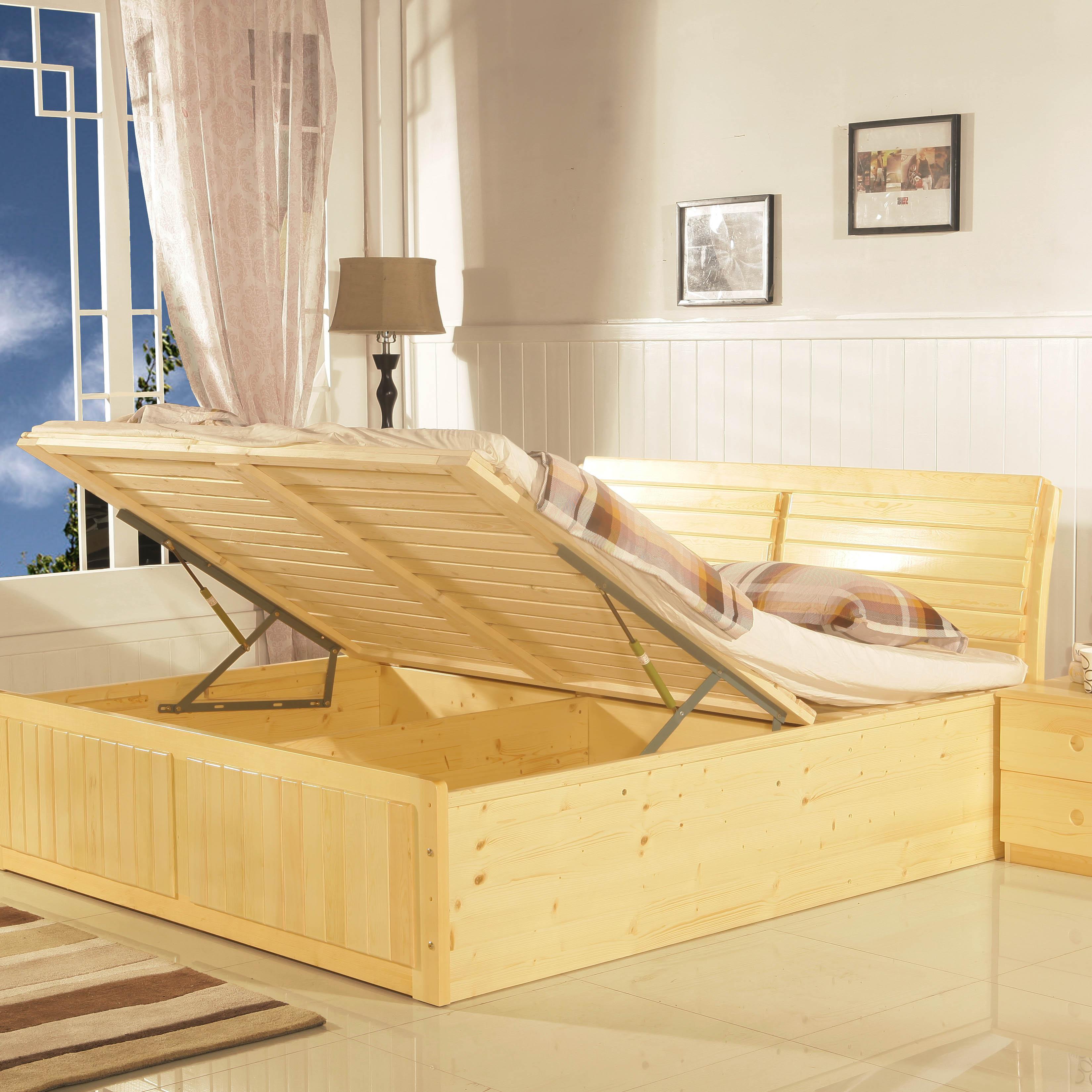 Кровать из массива дерева Zywg  1.2/1.5/1.8