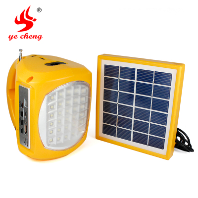 Wild into tent camping lights solar lights portable lights home emergency radio flashlight cell phone charger