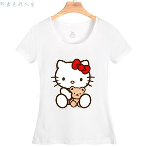 2015新款夏短袖T恤女学生闺蜜装卡通上衣韩版猫咪hello kitty衣服