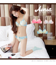 Japan and South Korea are cute and sexy gather city girl bra set chiffon small chest gathered beauty clothing bag used for travel within the mail