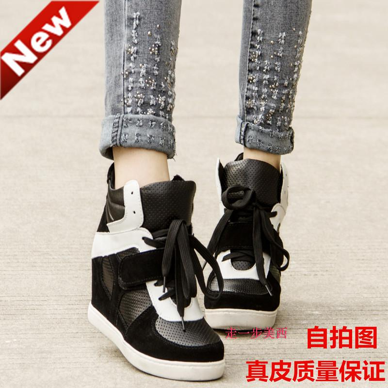 2014 autumn and winter increased dermal stealth shoes casual shoes sports shoes velcro high shoes Korean wave