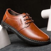 圣高2016新款男士商务休闲皮鞋低帮男鞋真皮英伦时尚潮流鞋子男