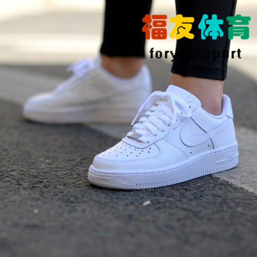 Nike Air Force 1 AF1 空军一号全白 男女 314192-117 315122-111