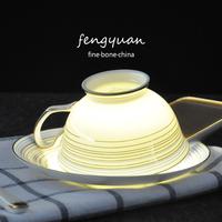鎏金英式红茶杯套装 高档骨瓷杯碟 欧式陶瓷描金咖啡杯具套装