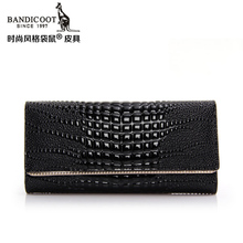 2015 kangaroos authentic purses Female long boom in Europe and America leather ladies handbags wallet wallet crocodile lines