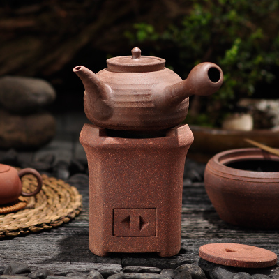 Charcoal stove fang Chaozhou red wind furnace kung fu tea stove alcohol furnace triangle furnace Alcohol lamp furnace + charcoal stove