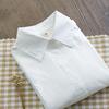 春秋装纯棉长袖白衬衫女装学院风职业装外穿内搭打底衫衬衣上
