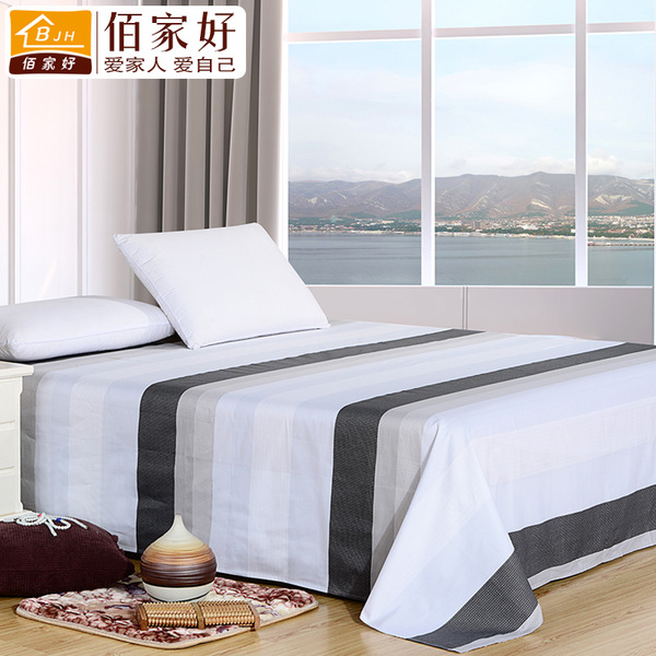 Bai good home without a single piece of cotton printed cotton bed linen striped bedspread yield 1.8 / 2 m fall and winter sheets Specials