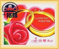 十格格 手工专卖 DMC十字绣套件精准印花挂画 客厅 花卉 珍爱一生