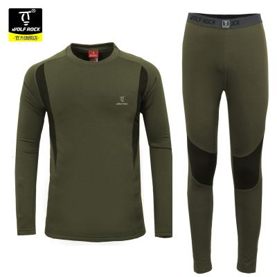 WOLFROCK fall and winter outdoor men's underwear features wicking and quick drying thermal underwear riding antistatic