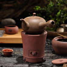 Charcoal stove fang time tea stove charcoal stove red mud sand pot Diao electric furnace side put the pot of girder TaoLu kettle tea pot