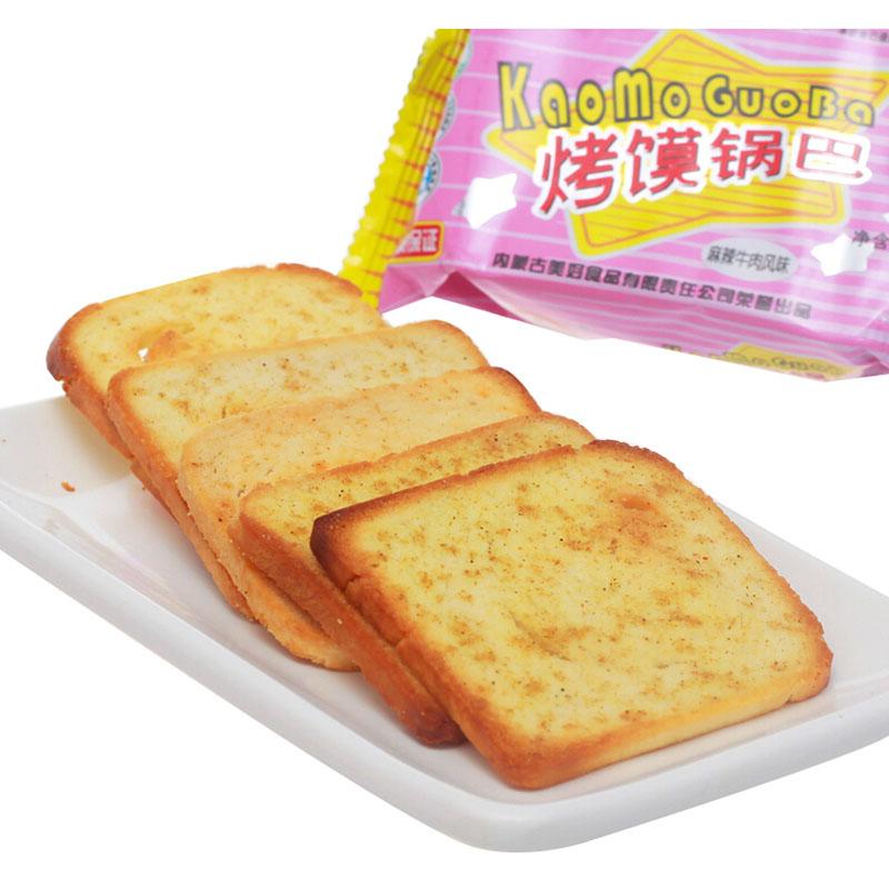 【知心奶奶】内蒙特产 新家园烤馍片75g麻辣牛肉味