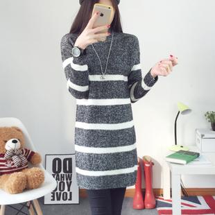 2015冬装新款中长款毛衣女套头针织衫女高领长袖常规款打底衫女