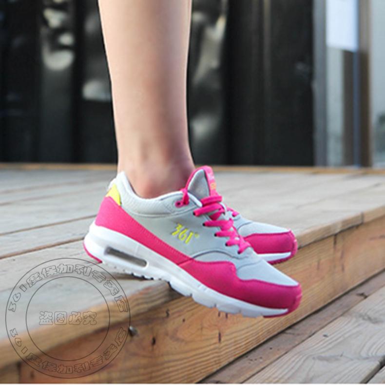 361度女鞋运动鞋2016年秋冬新款减震气垫增高跑鞋复古透气慢跑鞋