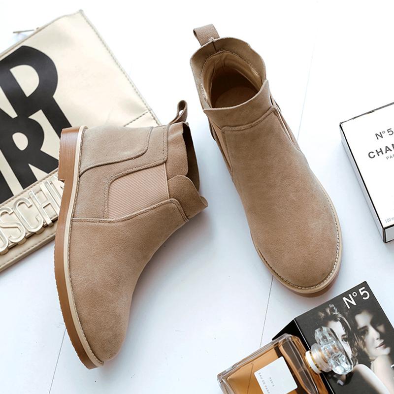 弹一弹舒适马丁靴