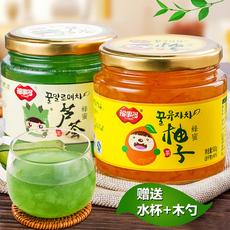 福事多蜂蜜柚子茶芦荟茶1000g 国货原装自制果味茶酱冲饮
