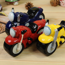 Flaws in the foreign trade ceramic piggy bank motorcycle home furnishing articles present