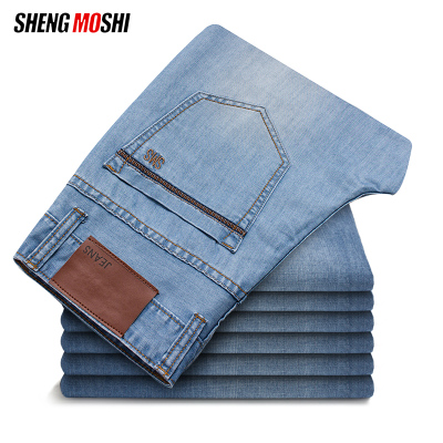 Sheng magic disabilities winter new men's men's jeans straight Slim long pants trend casual Korean fashion