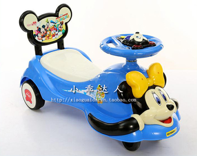 Upgraded version of the new special offer free shipping authentic children shilly-car baby swing car scooter with music