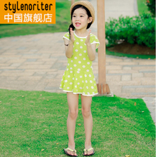 Spot South Korea imported female children's clothing brand quality goods noriter dot dot 2014 summer wear the new dress
