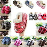 Lee made ​​male and female baby shoes wear non-slip shoes children aged 1-16 bottomed bag with warm cotton trailer home