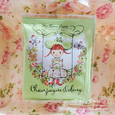 Due to Japan's behalf Karel Capek champagne oolong honey grape silk tea bags 5 bag/box