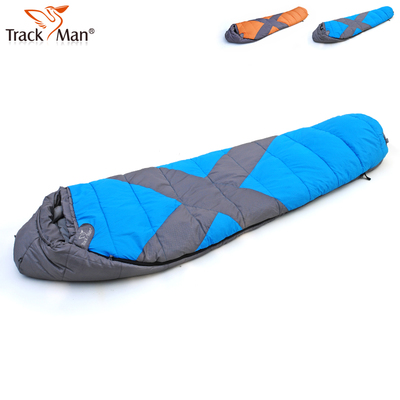 Ziyou Ren autumn and winter outdoor camping sleeping bag can fight each adult super soft double thick warm cotton sleeping bag free shipping