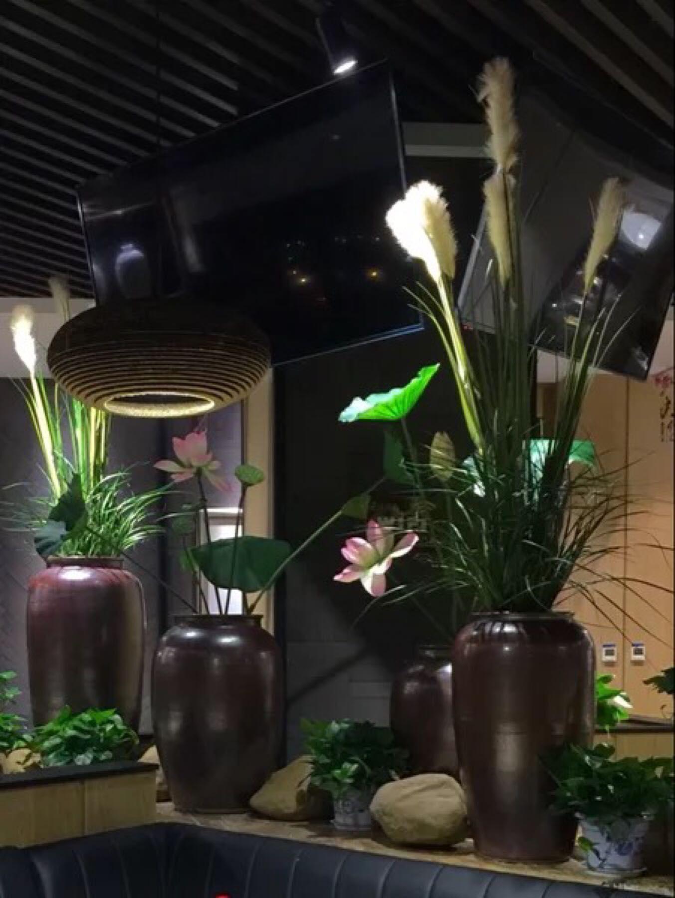 陶罐陶缸客厅酒店书房现代欧式假花仿真花摆件饰品