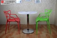 办公室售楼处会展白色洽谈小圆桌咖啡厅甜品店小吃店餐厅桌椅组合