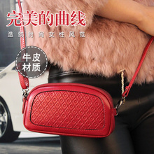 Packages mailed the new ms han edition leather hand bag shoulder inclined shoulder bag leather shell package mini banquet package the cat