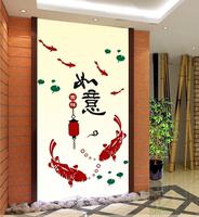 如意灯笼3d立体墙贴亚克力防水创意玄关背景墙现代中式家居装饰品