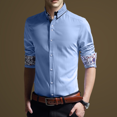 XUNMOO autumn and winter 2014 men's shirt plus thick velvet warm thick warm shirt shirt casual work