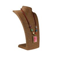 麻绳模特脖子道具L型胸模项链吊坠架人像橱窗首饰展示架绕线绳
