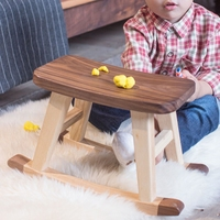 灵动致家 童摇原木儿童板凳 木马换鞋凳纯实木小矮凳板凳