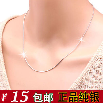 Korean fashion genuine 925 sterling silver necklace short paragraph clavicle necklace silver jewelry allergy-free shipping female gift