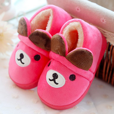 Indoor and outdoor children's warm winter padded shoes for men and women home cotton slippers baby shoes at home 1-3 years