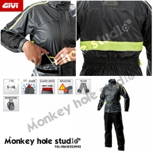 Italian GIVI raincoat CRS fission raincoat Motorcycle riding a raincoat Dark gray color