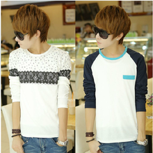 Men fall big boy students T-shirt 150 cm, 160 cm, 165 cm boy jacket fat boy long long sleeve small unlined upper garment