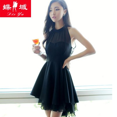 2014 Autumn tide was thin waist tutu Halter nightclub ladies sexy summer dress child temperament Slim