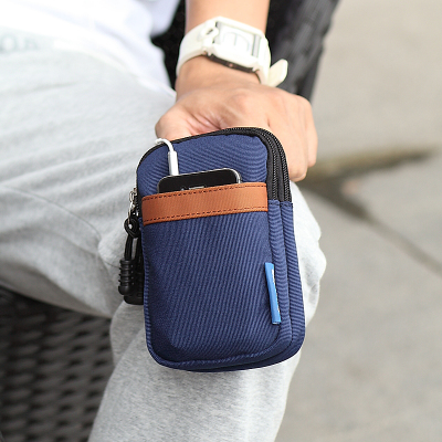 Van Ryan Apple Samsung mobile phone bag man purse tide double pockets casual outdoor packet keychain bag