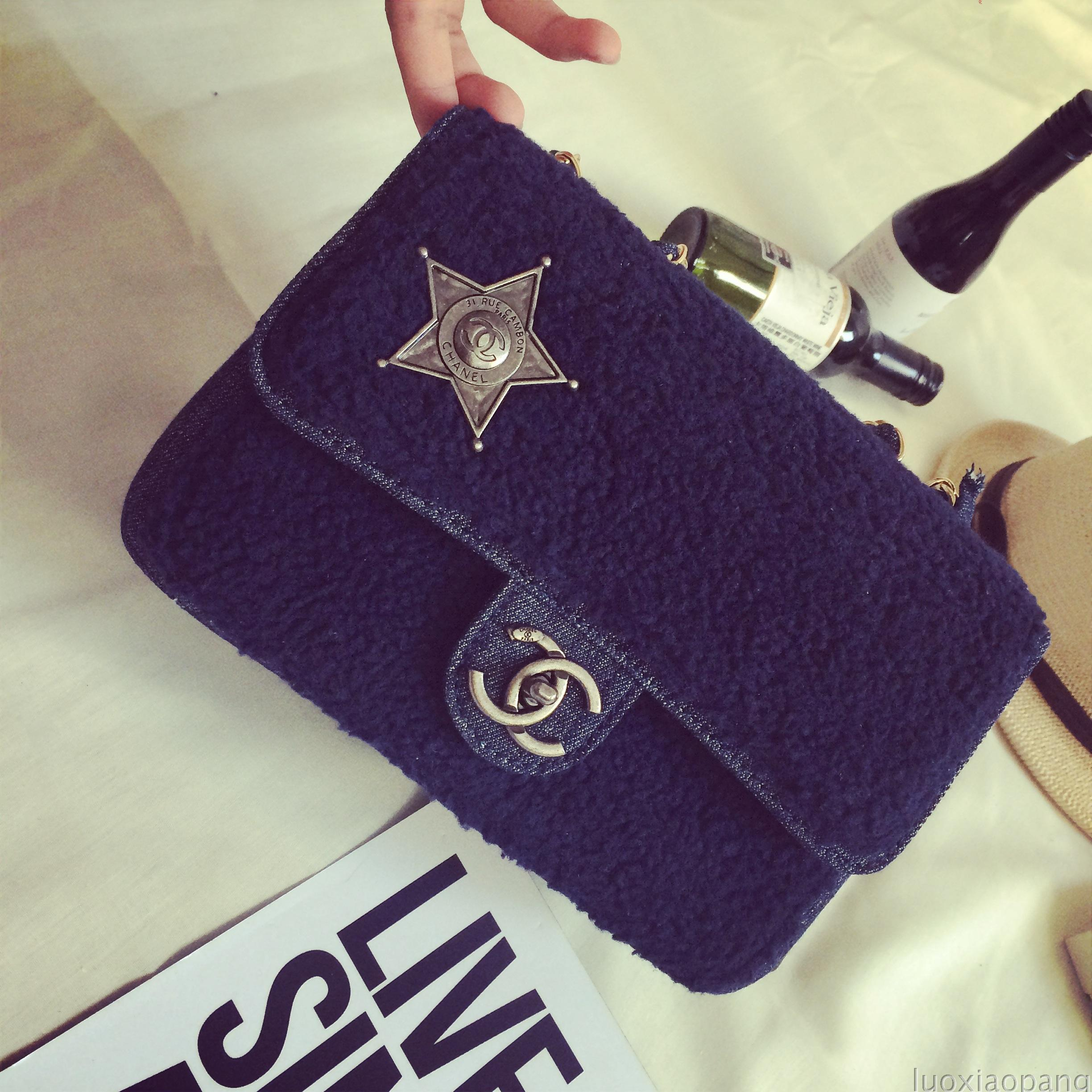 Zhou Xun with the money bag ladies bag 2014 new wave of lambs wool cowboy small sachet chain shoulder bag diagonal dual