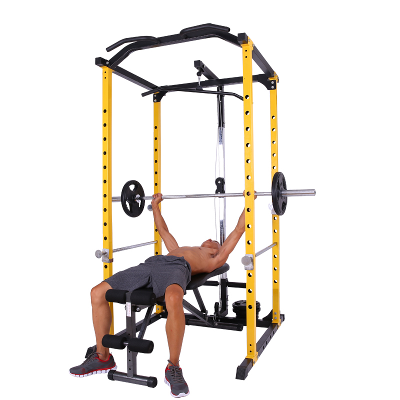 Squat rack weightlifting bed bench press rack barbell rack frame ...
