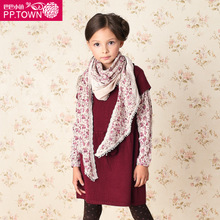 Baba town of children's wear autumn new scarf of the girls Female TongPeiSi printing knit cloth scarf 1250