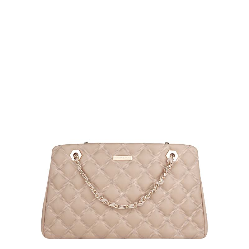 [ 5 fold ] Charles & amp; amp; Keith European style aristocratic ladies lozenge chain shoulder bag CK2-20740848
