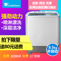 ittleswan/小天鹅 TP85-S955 8.5公斤双缸双筒半自动洗衣机双桶