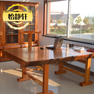 PEAR plate slab table wood slab table wood rosewood Executive desk desk Yi Jing Xuan