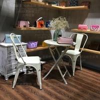 阳台桌椅铁皮茶几三件套客厅室内休闲户外组合洽谈咖啡厅小圆桌子