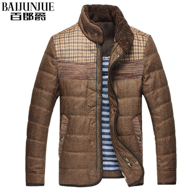 Grand County Down man one hundred men short paragraph Slim collar genuine autumn and winter slim down jacket