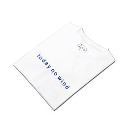 today no wind 2015SS Logo Embroidered Tee 圆领刺绣T恤