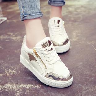 2015秋季新款厚底单鞋女韩版学生休闲鞋内增高松糕运动鞋女鞋
